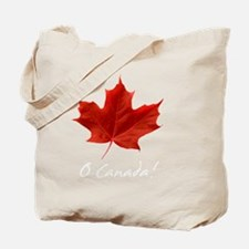 O_Canada_red_whiteLetters copy Tote Bag