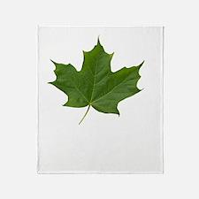 TrueNorth-greenLeaf-whiteLetters cop Throw Blanket