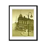 Antiqued Town Framed Panel Print