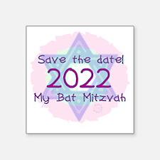 "save_the_date_2022 Square Sticker 3"" x 3"""