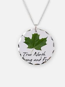 TrueNorth-greenLeaf-blackLet Necklace
