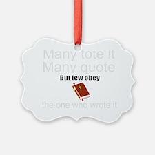 Cute bible gift Ornament