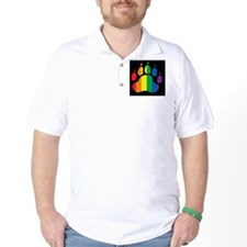 rainbow paw BLACK T-Shirt