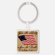 10x10_4_July_1776 Square Keychain