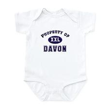 Property of davon Infant Bodysuit
