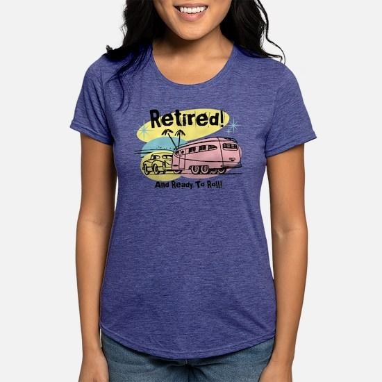 Retro Trailer Retired Womens Tri-blend T-Shirt