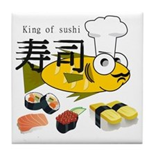 KINGSushi.HAT.CARD.Tshirt Tile Coaster