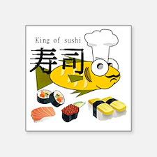 """KINGSushi.HAT.CARD.Tshirt Square Sticker 3"""" x 3"""""""