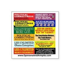"""OOBumperStickers-v01 - All Square Sticker 3"""" x 3"""""""