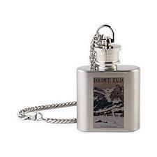 Sella Ronda - Alta Badia Pralongia  Flask Necklace