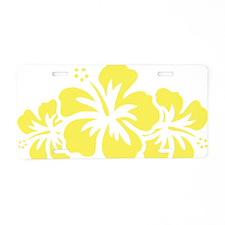 hawaiiflower2A Aluminum License Plate