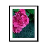 Pink Flowers Framed Panel Print