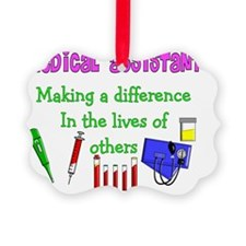 medical assistant making a diff P Picture Ornament