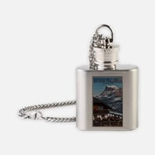 Sella Ronda - Rifugio Pralongia Flask Necklace