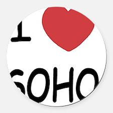 SOHO Round Car Magnet