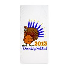 Thanksgivukkah 2013 Menurkey Beach Towel