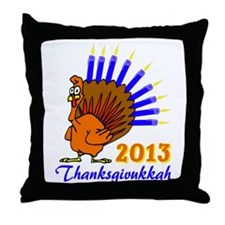 Thanksgivukkah 2013 Menurkey Throw Pillow