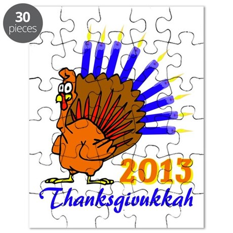 Thanksgivukkah 2013 Menurkey Puzzle