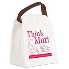Give mixed breed a chance Canvas Lunch Bag