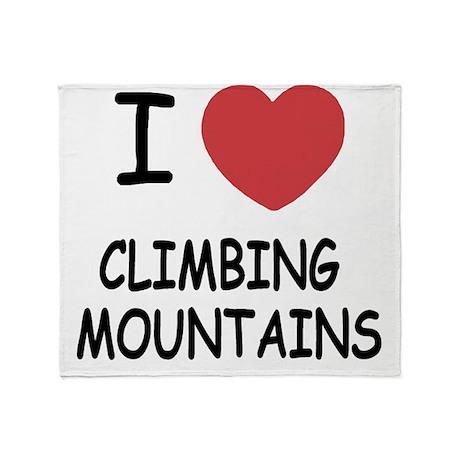 CLIMBING_MOUNTAINS Throw Blanket