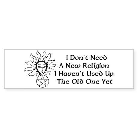 Old Religion Bumper Sticker