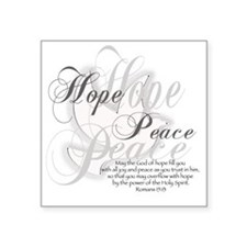 "GodofHope Square Sticker 3"" x 3"""