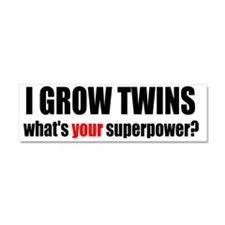 grow twins bumper Car Magnet 10 x 3