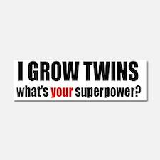 grow twins bumper Car Magnet 10 x 3