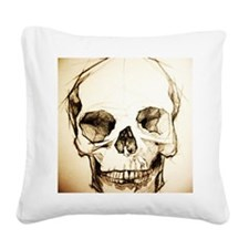 16x20_sketchskull Square Canvas Pillow