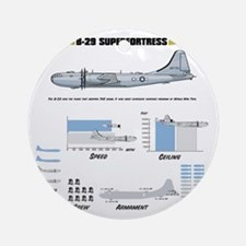 B-29shirt_back Round Ornament