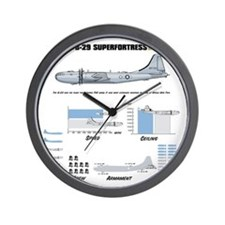 B-29shirt_back Wall Clock