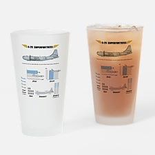 B-29shirt_back Drinking Glass