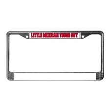 Little Mexican Tough Guy Hat License Plate Frame