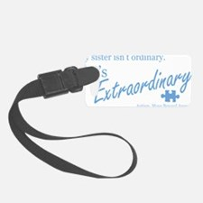 extraordinary-sister-blue Luggage Tag