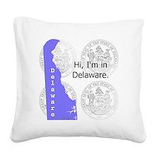 Delaware Square Canvas Pillow