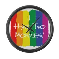 TwoMommies Large Wall Clock