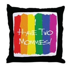TwoMommies Throw Pillow