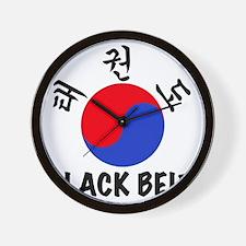 TKD(HG) Black Belt Um-Yang (1) Wall Clock