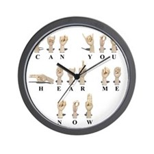 CanYouHearMeAmeslan062511 Wall Clock
