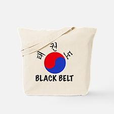 TKD(HG) Black Belt Um-Yang (1) Tote Bag