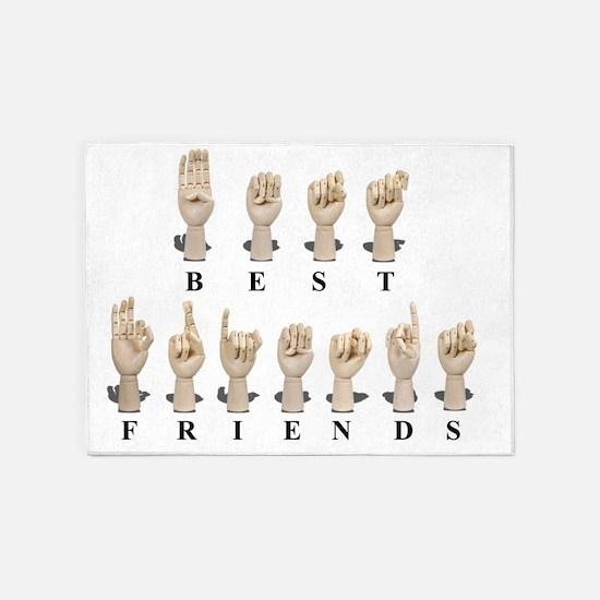 BestFriendsAmeslan062511 5'x7'Area Rug