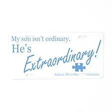 extraordinary-son-blue-lowe Aluminum License Plate