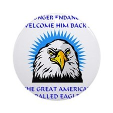INDEPENDENCE  DAY Macho Eagle Round Ornament