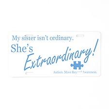 extraordinary-sister-blue-l Aluminum License Plate