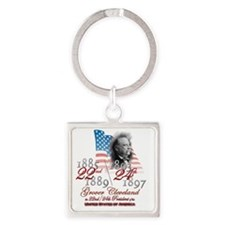 USA Presidents - 22nd 24th Clevela Square Keychain
