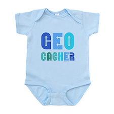 Geocacher Arrows Blue Infant Bodysuit