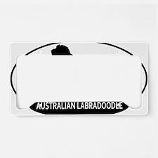 labradoodle2 License Plate Holder