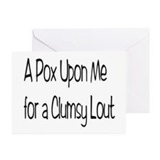 A Clumsy Lout Greeting Cards (Pk of 10)