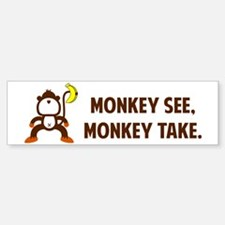 monkeys_laptopskin Bumper Bumper Sticker