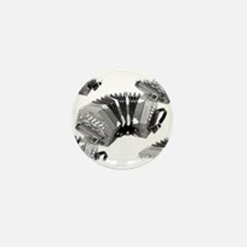Concertina Mini Button (10 pack)